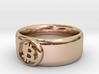 Bitcoin Ring (BTC) - Size 9.5 (U.S. 19.35mm dia) 3d printed