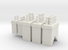 Chimneys Type 1 X 2 With 2,3 &  4 - 4mm 3d printed