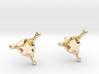 StarSplash stud earrings 3d printed