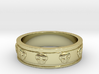 Ring with Skulls - Size 5 3d printed