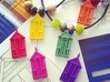 'Beach Hut' Strong and Flexible Plastic Pendant 3d printed