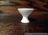 Modern Fruit Bowl 1:12 scale 3d printed White Strong & Flexible Polished