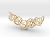 Icosahedron Frame Geometry Pendent 3d printed