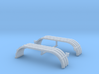 1/64th UFS Tandem Fenders Ribbed w lights 3d printed