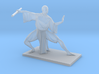 Asian Monk with Staff 3d printed