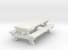 Picnic Table - Qty (1) HO 1:87 scale  3d printed