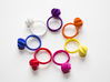 Flora Ring 3d printed The Flora Ring in multiple colors