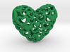Heart by Heart 35mm Pendant. 3d printed green Hearts