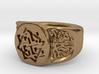 Slavic Swastika Charm Ring 3d printed