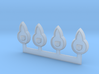 1/24 Tail Light for 1955 Ford Fairlane Crown Victo 3d printed