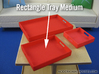 Rectangle Tray Medium 1:12 scale 3d printed (actual material Red Strong & Flexible Polished)