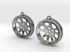"Double Seconds ""void"" steelpan earrings, M 3d printed"