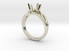 Solitaire Engagement Ring w/Branched Band 3d printed