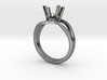 Solitaire Engagement Ring w/Split Band 3d printed