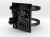 Pixel Landscape Ring  3d printed