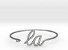 LA Wire Bracelet (Los Angeles) 3d printed