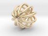 NINS Infinity Ring Cage Pendant 3d printed