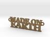 Made on EARTH Pendant 3d printed