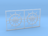 1:78 HMS Victory Ships Wheel 3d printed