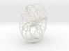 Trefoil torus knot 3d printed