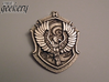 Ravenclaw House Crest - Pendant LARGE 3d printed Stainless Steel - small 5.3cm version
