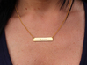 Aloha Name Plate Necklace 3d printed