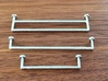 1:12 Double Towel Rail 3d printed Sprayed with chrome paint