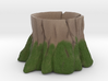 Mossy Stump Marble Holder 3d printed