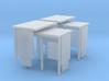 N Gauge Bus Shelter type 3 (4 pack) 3d printed