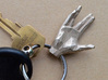 Faceted Spock Hand Keychain - Vulcan salute 3d printed