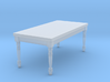 1:144 Micro Scale French Country Dining Table 1 3d printed