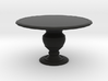 1:12 One Inch Scale Miniature Round Dining Table 3d printed