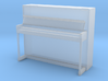 Miniature 1:48 Upright Piano 3d printed
