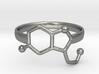 Serotonin Molecule Ring - Size 8 3d printed