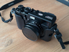 Lens Cap Adaptor for DIY Filter on Fujifilm X100 3d printed ...and with the cap on