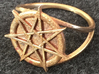 Fairy star ring (choose size)  3d printed The fairy star ring in raw bronze.