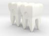 Molar Teeth Post Earrings 3d printed