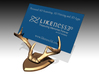 Deer Horn Base 3 - Business Card Holder 3d printed