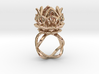 The Lotus Flower Ring / size 7 1/2 US 3d printed