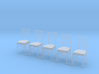 5 Chiavari Chairs 1:24 3d printed