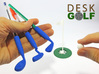 Desk Golf (COMPLETE SET) 3d printed Set in blue,  white, and green. Get your set like this at the button below.