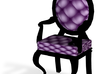 1:144 Micro Scale VioletBlack Louis XVI Oval Chair 3d printed