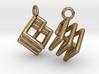 Ring-in-a-Cube Ear Rings 3d printed