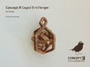 Caged Bird Charm w. Ear (Small) 3d printed