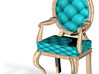 1:144 Micro Scale TealPale Oak Louis XVI Chair 3d printed