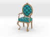 1:12 One Inch Scale TealPale Oak Louis XVI Chair 3d printed