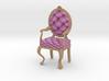1:24 Half Inch Scale PinkPale Oak Louis XVI Chair 3d printed