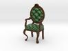 1:48 Quarter Scale PineDark Oak Louis XVI Chair 3d printed
