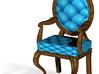 1:48 Quarter Scale RobinDark Oak Louis XVI Chair 3d printed