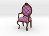 1:48 Quarter Scale PinkDark Oak Louis XVI Chair 3d printed